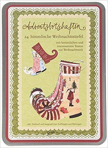 Adventskalender Karten In Blechbox 24 Sprüche Zur Weihnachtszeit:  Amazon.de: Silke Leffler: Bücher