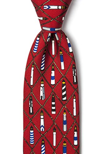 Alynn Novelty Red Silk Ties - 7