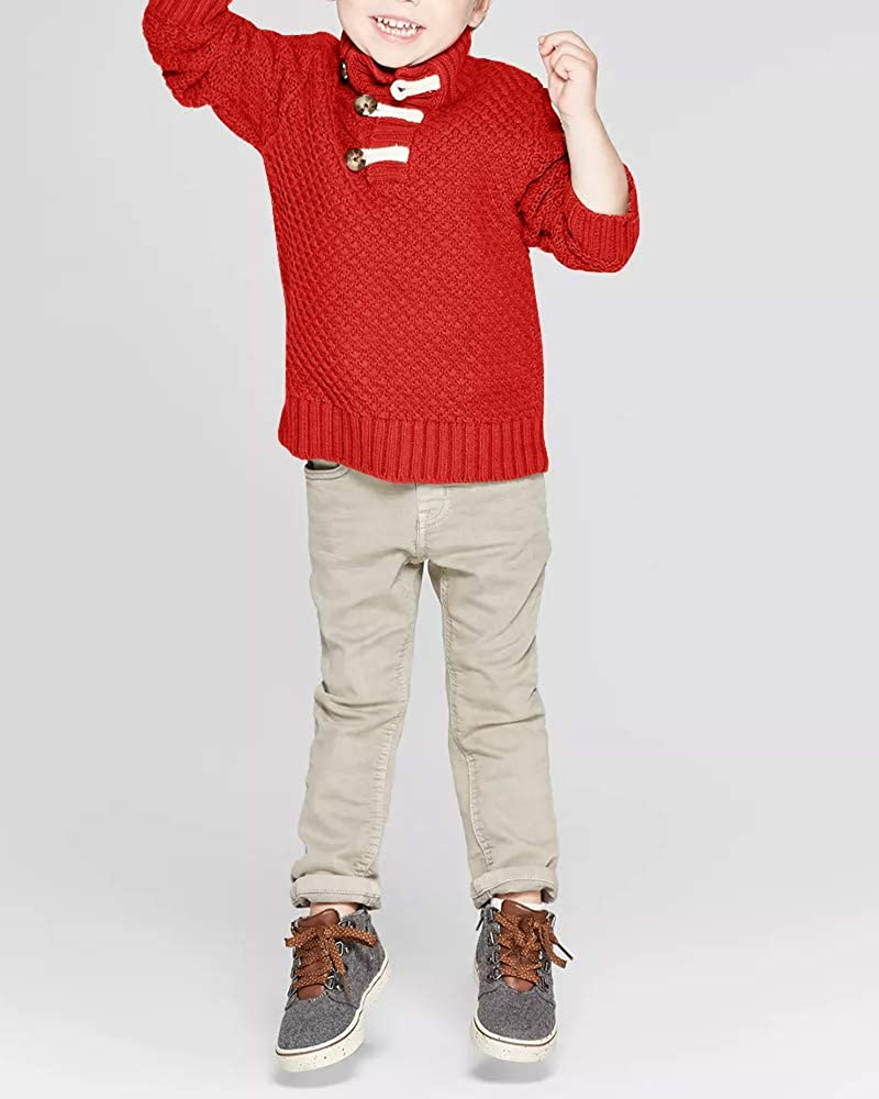 Hestenve Boys Knit Pullovers Shawl Warm Winter Sweaters Sweatshirt Top for Baby boy Girl Toddler Outwear