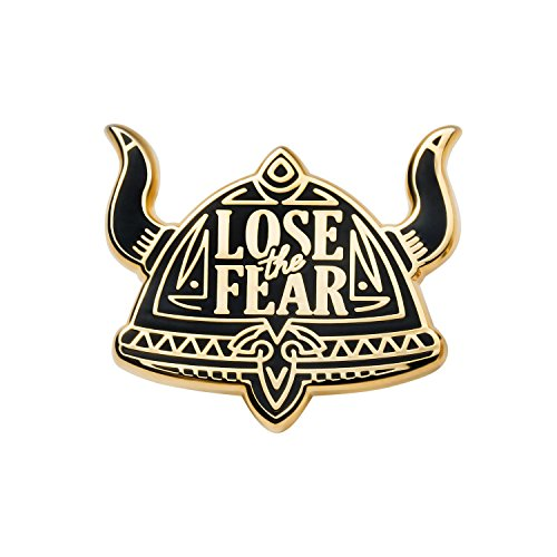 (Asilda Store Lapel Enamel Pin [with Deluxe Pin Lock] (Lose The Fear) )