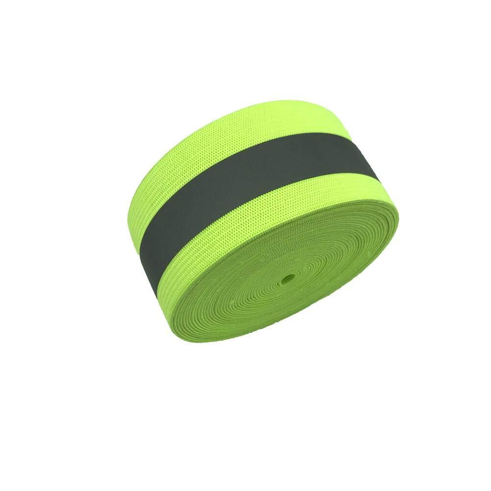 反射ゴム蛍光グリーン 1.5インチ 5Yards 2インチ 5Yards 2inch 1.5inch 2inch 反射グリーン B07JR9TZ5S