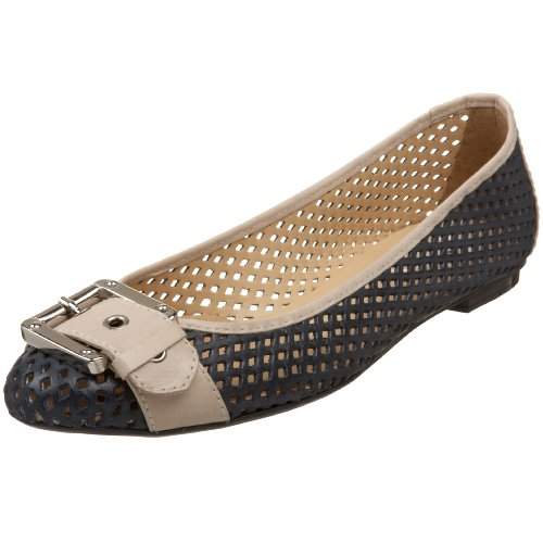 FS French Sole Flat Waffle Cream Navy Ballet NY Women's qC4U5wvC