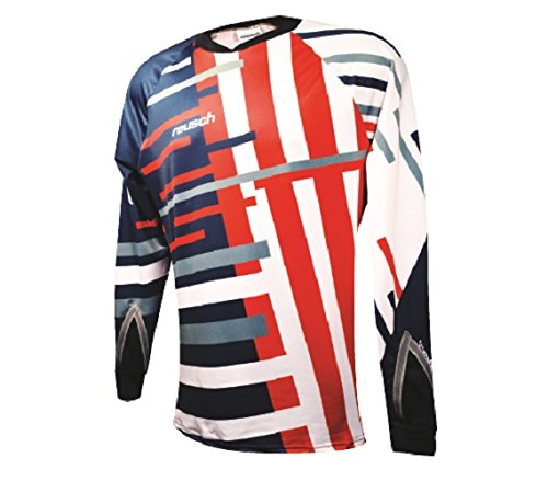 Reusch Soccer Patriot Pro Fit Goalkeeper Jersey, Blue/Red, X-Large ()