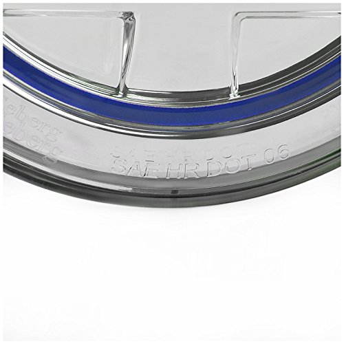 7 Inch Round - Spec-D Tuning LHP-7RND-BL-RS Blue Projector Headlight