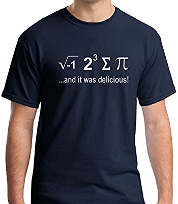 Raw T-Shirt's I Ate Some Pie And It Was Delicious - Funny Nerdy Math Men's T-Shirt