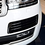 ABS Plastic Chrome Front Fog Light Grille Cover Trim Accessories for Landrover Range Rover Vogue LR405 2013-2017 Gloss black