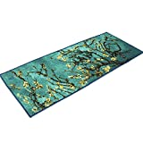 JACKSON Home and Kitchen Rugs Washable Door Mat Non Slip Runner Decorative Entrance Rug with Non-Skid Rubber Backing Oeko-tex100 Certified 59'' L x 20'' W (HAPPINESS)