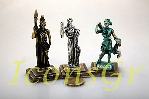 Ancient Greek Zamac Miniature Statues Set of 3 Pieces - 5661