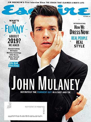 Esquire Magazine (October, 2019) JOHN MULANEY Cover, Hannah Gadsby, Bill Hader, Whitney Cummings, Julio Torres