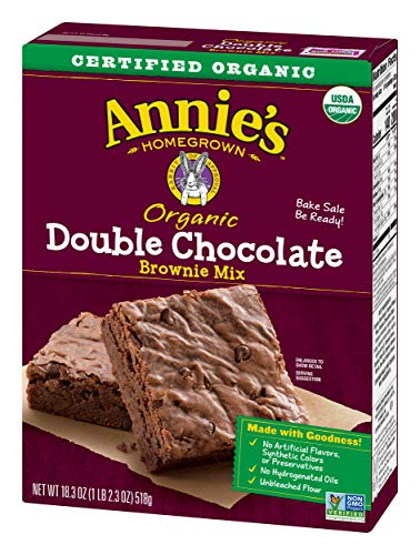 - Annie's Double Chocolate Brownie Mix Box, 18.3 Ounce (Pack of 8)