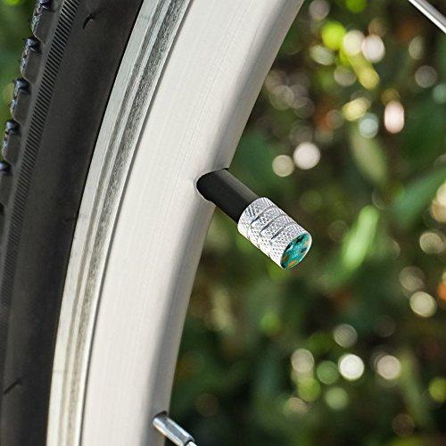 オートバイ自転車バイクタイヤリムホイールアルミバルブステムキャップ - アルミニウムクレイジーキャットレディティールオレンジブラックブラウン