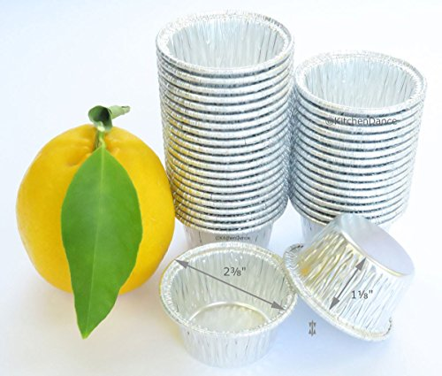 Disposable Aluminum Individual 2 Oz Foil Cups-Souffle Cups-ramekins. #S220 (50)