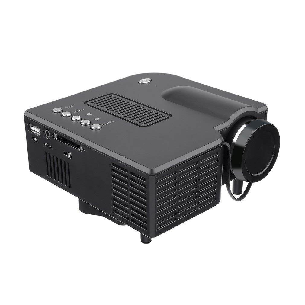 Mini Projector Home Theater Full HD 1080P LED Projector Video Projector Compatible with VGA/USB/SD/AV/HDMI