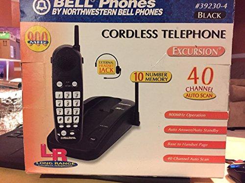 Northwestern Bell Black Telephone - Northwestern Bell 392304 900 MHz Cordless Phone (Black)