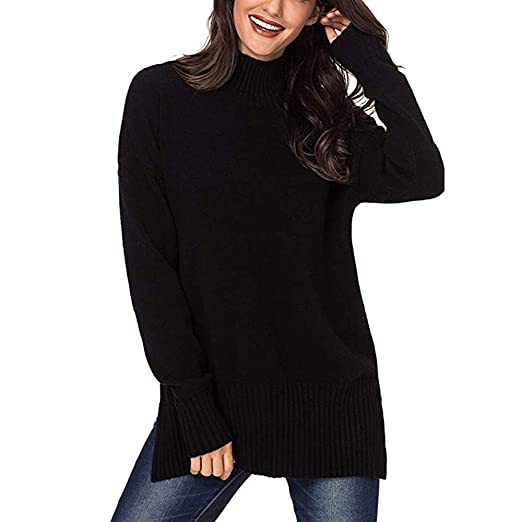 Amazoncom Besooly Women Loose Sweater Over Sized Blouse Casual