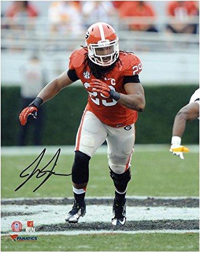 "Jarvis Jones Georgia Bulldogs Autographed 8"" x 10"" Vertical Photograph Fanatics Authentic Certified"