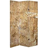 """ORIENTAL Furniture Tall Double Sided Sandy Meadow Canvas Room Divider, 6'/37"""""""