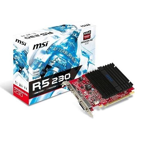 MSI Radeon R5 230 2GD3H LP - Tarjeta gráfica Radeon R5 230 2GD3H LP (LP, HDMI, DVI-D, D-Sub, DDR3, 128 M x 16 bit)