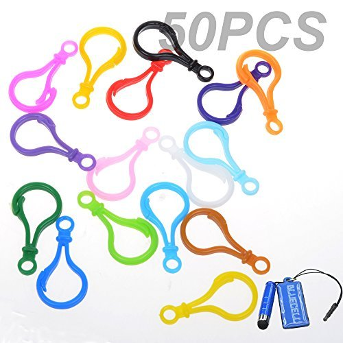 Plastic Clasp - BCP 50PCS Random Color Hard Plastic Lobster Clasps Hook for Key Ring Chain / Keyring /DIY Project