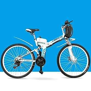 """Bicicleta eléctrica de la velocidad 21 de ZX600, 24 """", 240W, batería"""