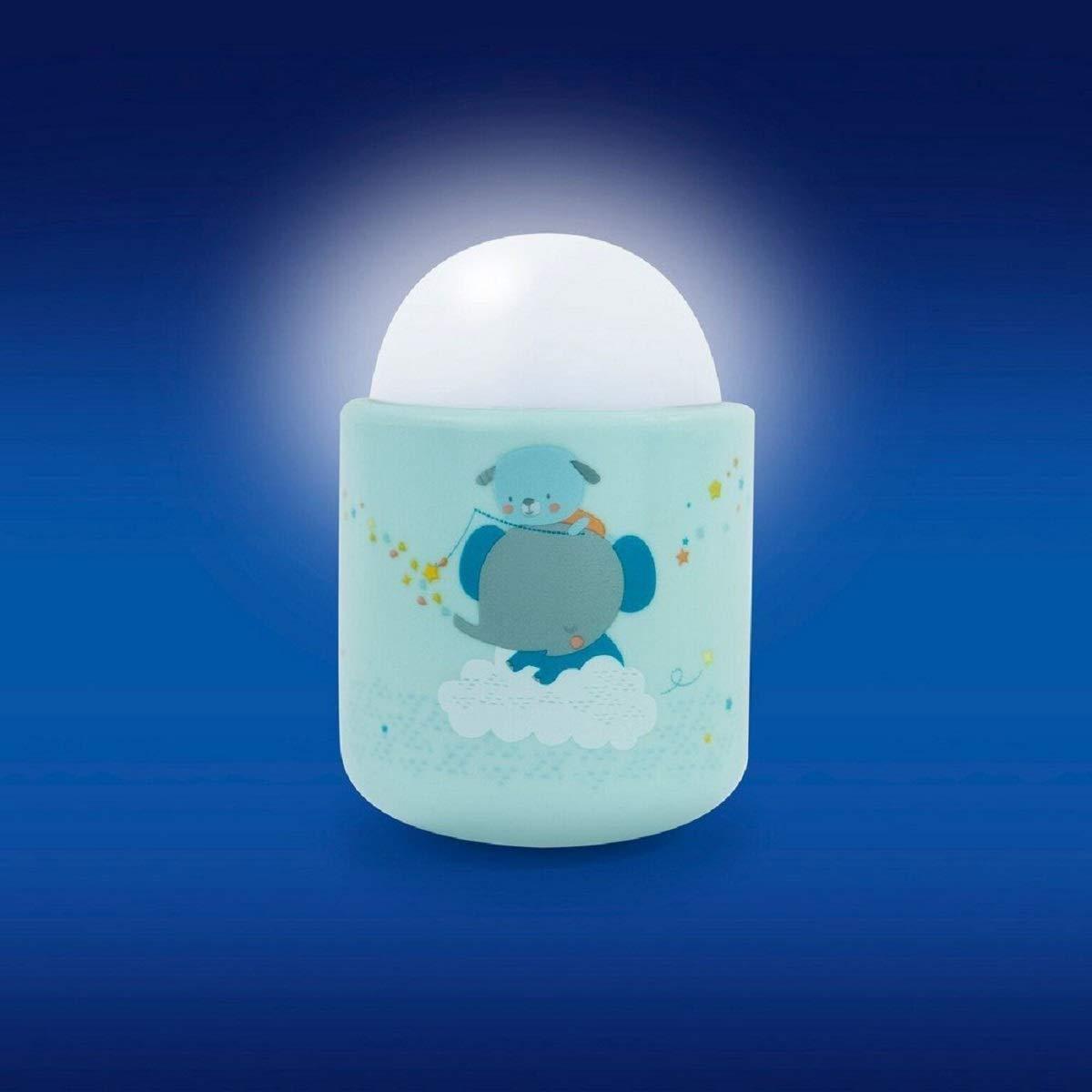 Pabobo Bleu Timoleo -Veilleuse Portable LED /à Lumi/ère Douce pour B/éb/é et Enfant 70 heures dautonomie sans pile ni fil Rechargeable