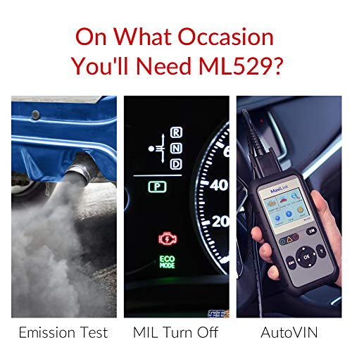 Autel OBD2 Scanner Maxilink ML529 Check Engine Code Reader with Full OBD2 Functions for Turning off Car Check Engine Light by Autel (Image #2)