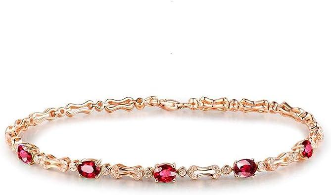 Bracelet en or rose 18 carats Diamant Bracelet en cristal Chaîne Bracelet