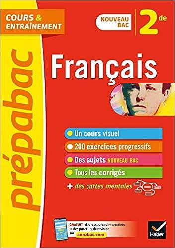 Amazon Fr Francais 2de Prepabac Nouveau Programme De