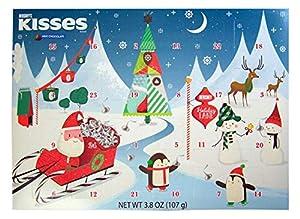 2018 Hershey's Kisses Milk Chocolate Christmas Advent Countdown Calendar with Candy, 3.8 oz