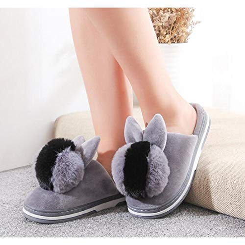 Letto Da Calde Ciabatte Grey Pantofole Per Home Fluffy Scarpe Camera Dongtx Invernali Donna 6qSPwqf