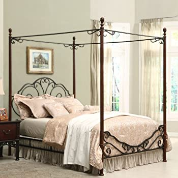 this item home creek bronze metal canopy bed - Metal Canopy Bed Frame