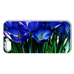 Happy Spring! - Case Cover for iPhone 5 and 5S (Flowers Series, Watercolor style, White)