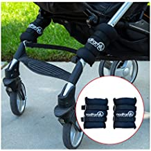 Steady Stroller Weights - Prevent Tipping with Safety Counterweights for Weight in Back of Stroller - Velcro Straps