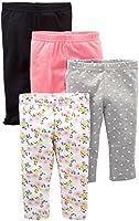 Simple Joys por de Carter Baby Girls 'paquete de 4pant, Navy, Gray Dot, Pink, Floral, 18 Months
