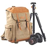 TARION M-02 Water-Repellent Canvas Backpack Photography Bag Camera Gadget Bag for Digital Cameras