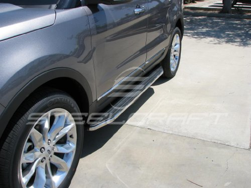Steelcraft 11-15 FORD EXPLORER RUNNING BOARDS (Drilling Required Pinch Weld) BLK