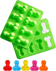 YUYOU Silicone Molds Food Grade Bakeware Non-Stick Ice Cube Mold Cake Chocolate Moulds Pink Sugar Craft Tools Baking Molds Ice Club Mould (2Pack - Green)