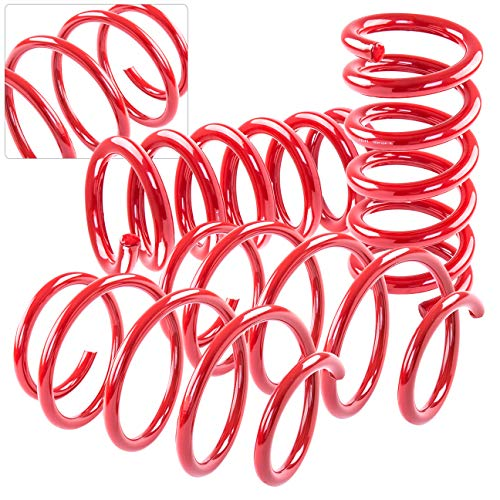 AJP Distributors Handling Control High Performance Suspension Racing Track Drag Lowering Springs Spring For 2010 2011 2012 2013 2014 2015 10 11 12 13 14 15 Chevy Chevrolet Camaro V6 3.6L; (Red)