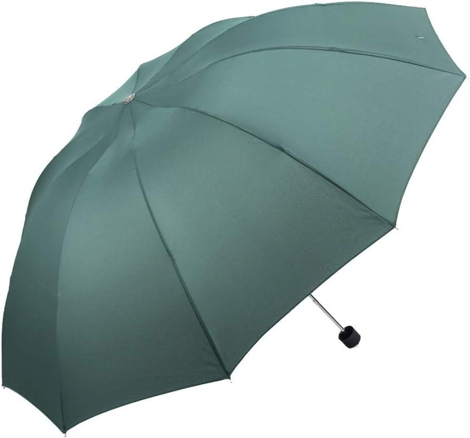Color : Green ZHANGAIZHEN Business Large Shade Sunscreen Anti-UV Simple Black Glue