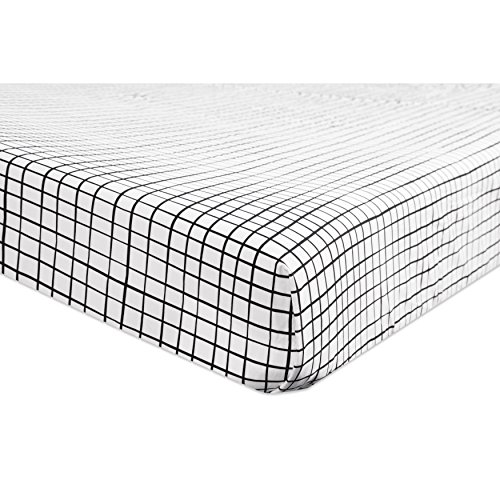 - Babyletto Fitted Crib Sheet, Tuxedo Grid