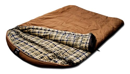 Grizzly 2 Person +25 Degree Canvas Sleeping Bag (Tan), Outdoor Stuffs