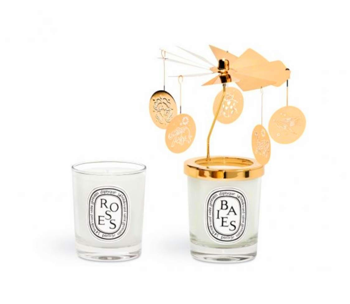 Diptyque Holiday Carousel and Candle Set Baies and Rose. 20g each ...