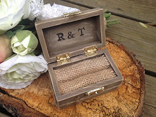 Amazon Com Wedding Ring Bearer Box Wedding Ring Box Rustic Ring Box