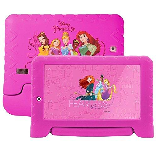 "Tablet Disney Princesas Plus Wi-Fi Dual Câmera Android, Multilaser, NB281, 8 GB, 7"", Rosa"