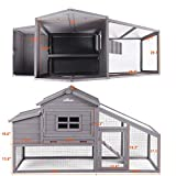 Wooden Chicken Coop , Large Outdoor Hen House with