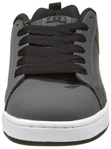 Dc Shoes Mens Court Graffik Se Läder Tränare Gråvit