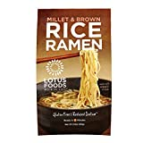 Lotus Foods Millet and Brown Rice Ramen with Miso Soup, Low Sodium, 2.8 oz, 10 Count