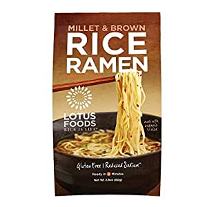 Amazon.com : Lotus Foods Millet and Brown Rice Ramen with