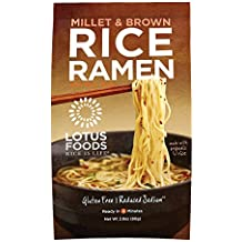 Lotus Foods Millet and Brown Rice Ramen with Miso Soup, Low Sodium, 2.8 Ounce (Pack of 10)
