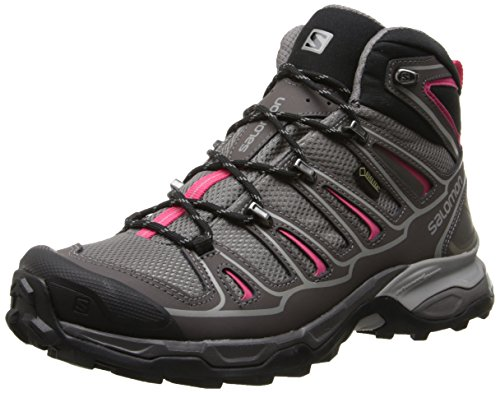 Salomon Women's X Ultra Mid 2 GTX-W, Detroit/Autobahn/Hot Pink, 7.5 M US
